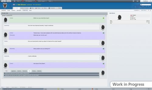 Вот так в Football Manager 2012 происходит общение