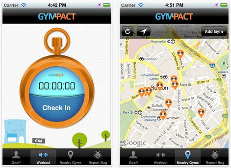 iPhone-приложение GymPact
