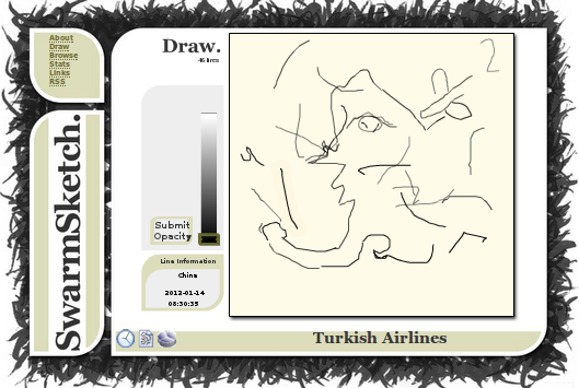 Turkish Airlines on SwarmSketch