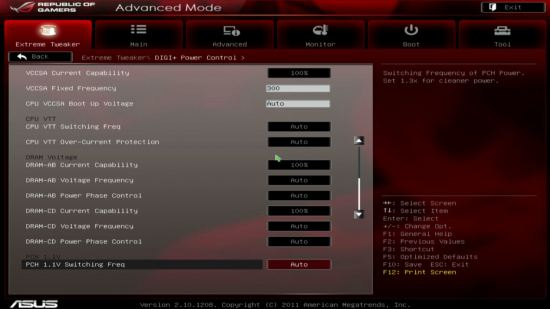 UEFI, меню DIGI+ Power Control