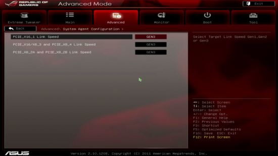 UEFI, ���� System Agent Configuration