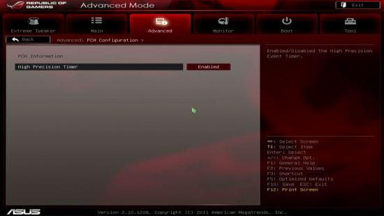 UEFI, ���� PCH Configuration