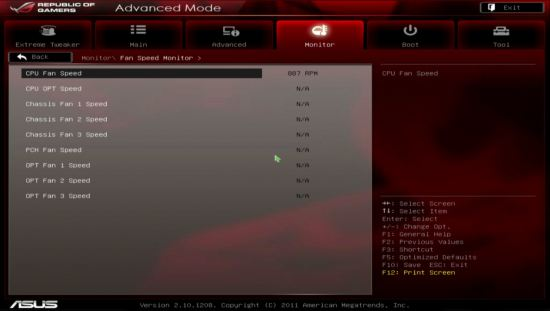 UEFI, ���� Fan Speed Monitor