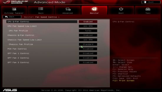 UEFI, ���� Fan Speed Control