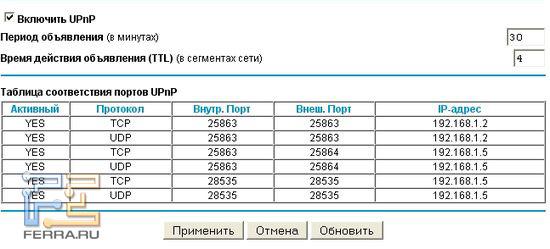 ��������� ���������� UPnP � ������� ����. N750 ��� �������� ����-���������� ��� BitTorrent