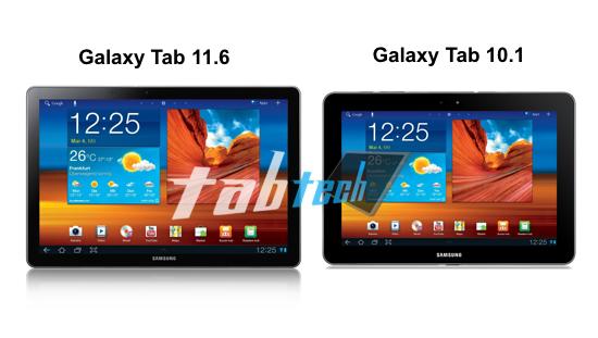 �����, ��������� Samsung  Galaxy Tab 11.6 � 10.1