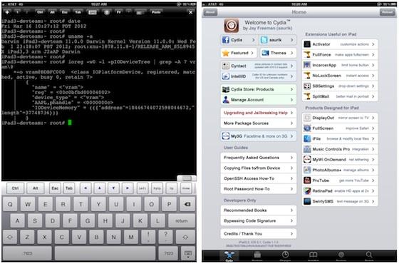 iPad + jailbreak