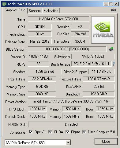 �������������� ������������ ���������� GPU-Z