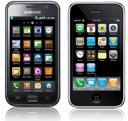 ��������� �������� Samsung � Apple
