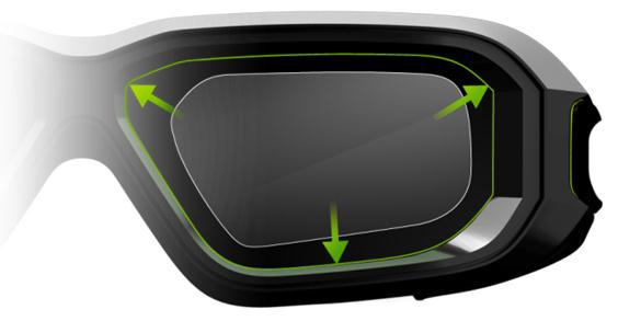 Сравнение размеров стёкол очков NVIDIA 3D Vision и 3D Vision 2