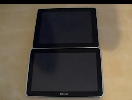 iPad и Samsung Galaxy Tab 10.1