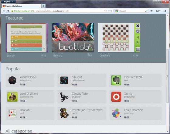 Mozilla Marketplace