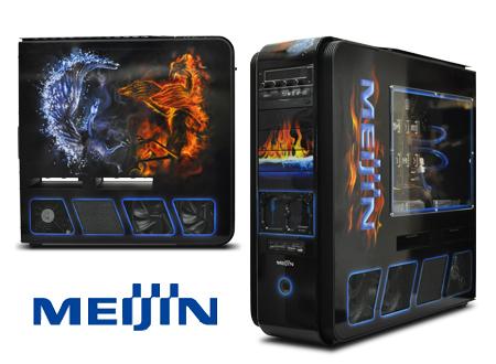 Игровой пк meijin ice and fire с аэрографией