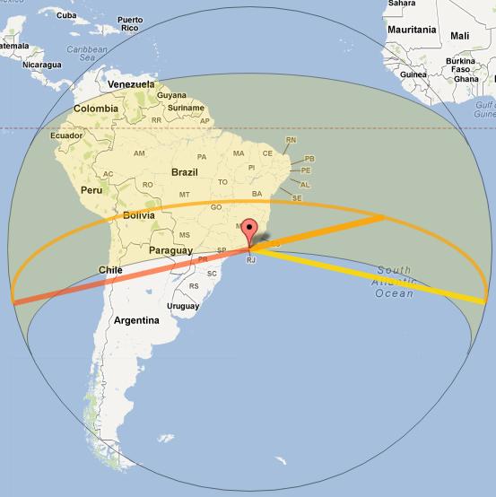 Диаграмма для Рио-де-Жанейро на сайте SunCalc