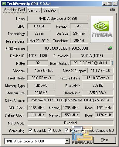 Inno3D Ichill GTX 680 в разогнанном состоянии