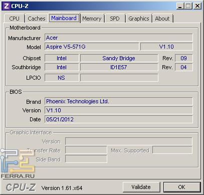 Материнская плата Acer Aspire V5-571G-32364G32Makk