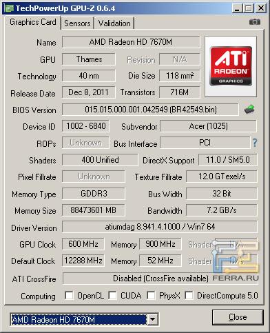 AMD RadeonHD7670M