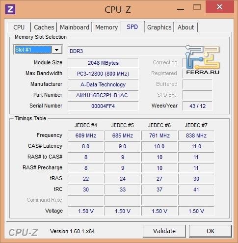 �������������� 2-� ������������ ������ DDR3 Samsung NP730U3E