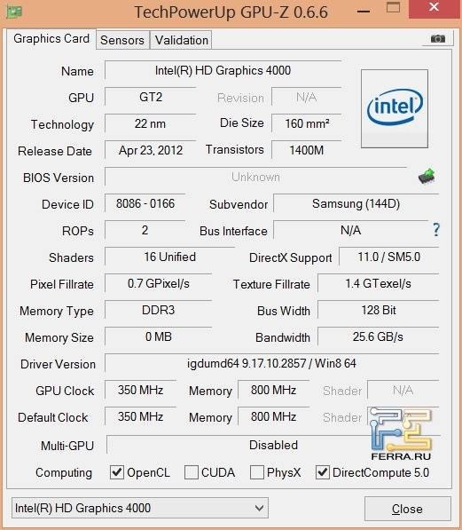 �������������� ��������������� Samsung NP730U3E