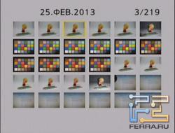 Отображение отснятого материала на Lumix FT25
