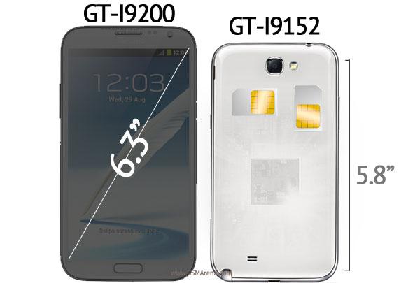 Размеры Samsung Galaxy Mega