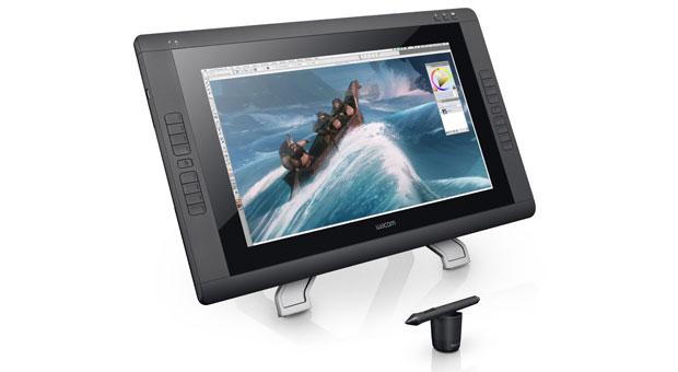 22-дюймовый интерактивный дисплей Wacom Cintiq 22HD touch распознает жесты