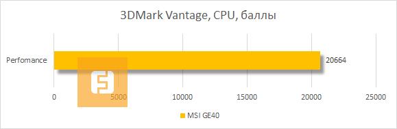 ���������� MSI GE40 � 3DMark Vantage