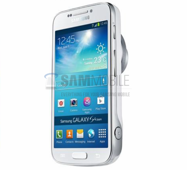 Смартфон Samsung Galaxy S4 Zoom с оптическим зумом появился на фото