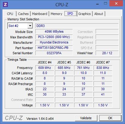 Характеристики оперативной памяти Dell Inspiron 3521