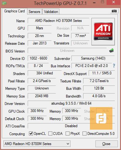 �������������� AMD Radeon 8750M