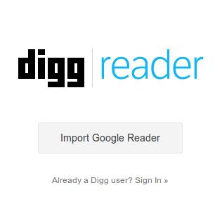Digg Reader. Начало.