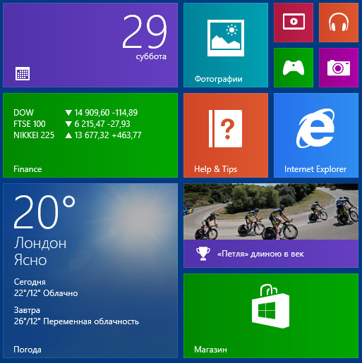 Плитка в Windows 8.1