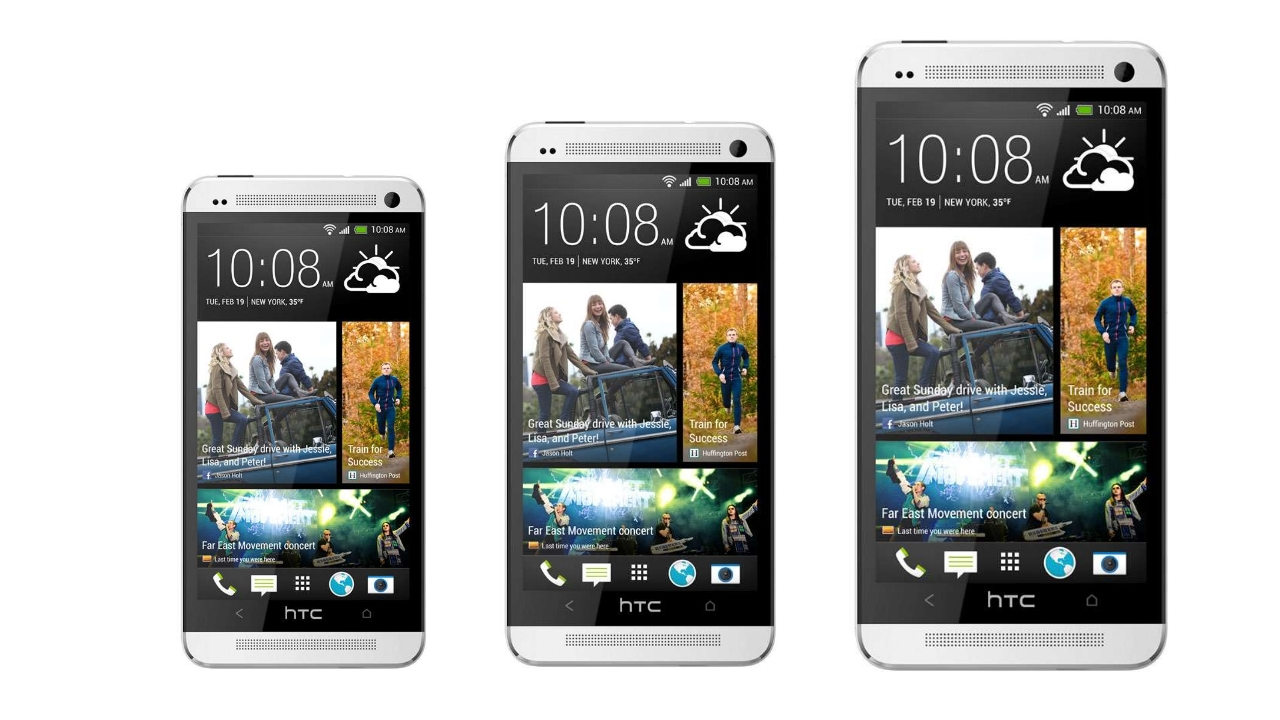 HTC One Mini,  HTC One и HTC One Max