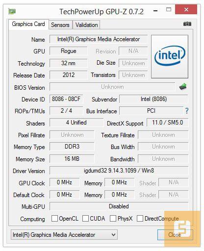 Спецификации видеоядра Lenovo IdeaTab Lynx K3011W