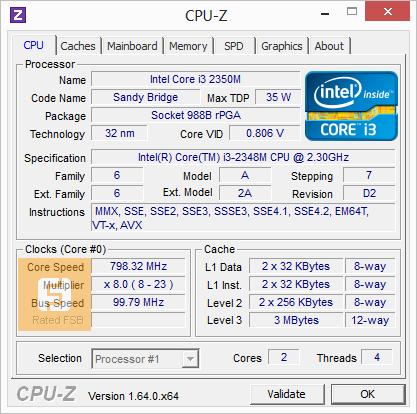 Спецификации Intel Core i3-2348M