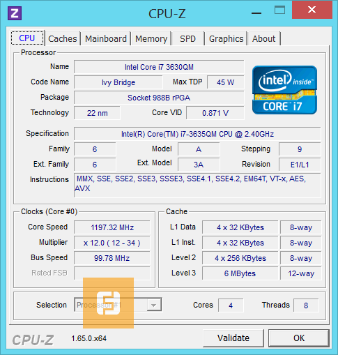 �������������� Intel Core i7-3635QM
