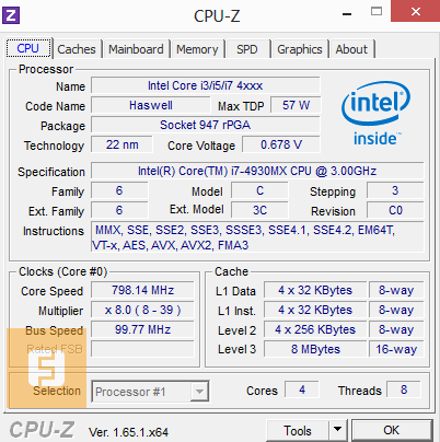Спецификации Intel Core i7-4930MX