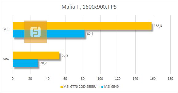 Тестирование MSI GT70 2OD-255RU в Mafia II