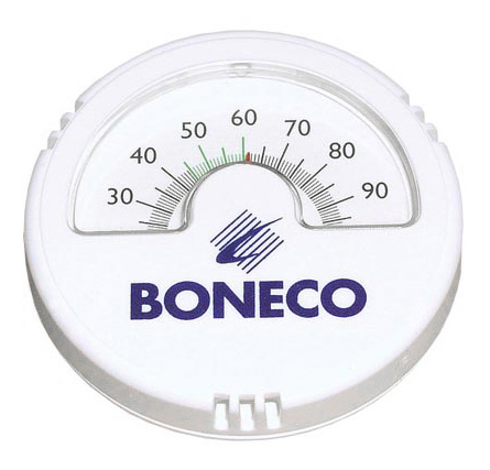 Простой аналоговый гигрометр Boneco 7057 подойдет большинству интерьеров