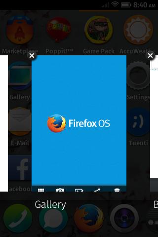 Последние приложения на ZTE Open на Firefox OS
