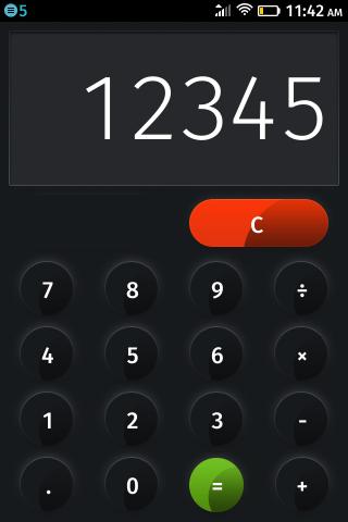 Калькулятор на ZTE Open на Firefox OS