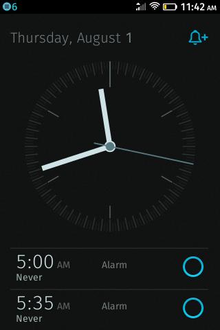 Часы на ZTE Open на Firefox OS