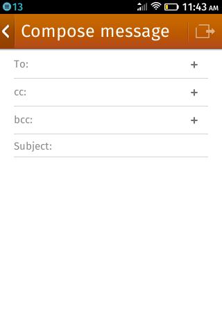 Составление сообщения на ZTE Open на Firefox OS