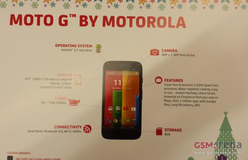 Четырехъядерный смартфон Motorola Moto G засветился в подробностях