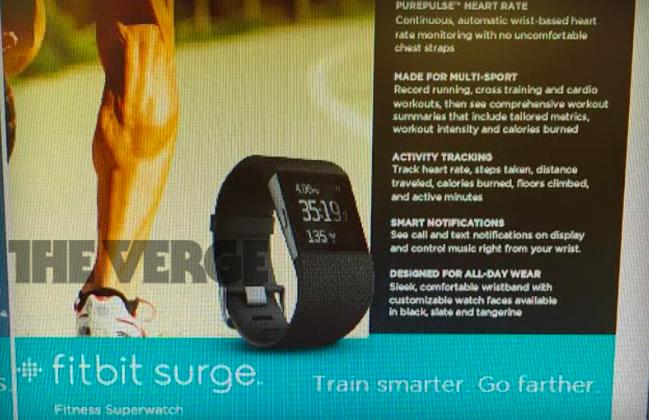 Производитель фитнес-устройств готовит смарт-часы Fitbit Surge