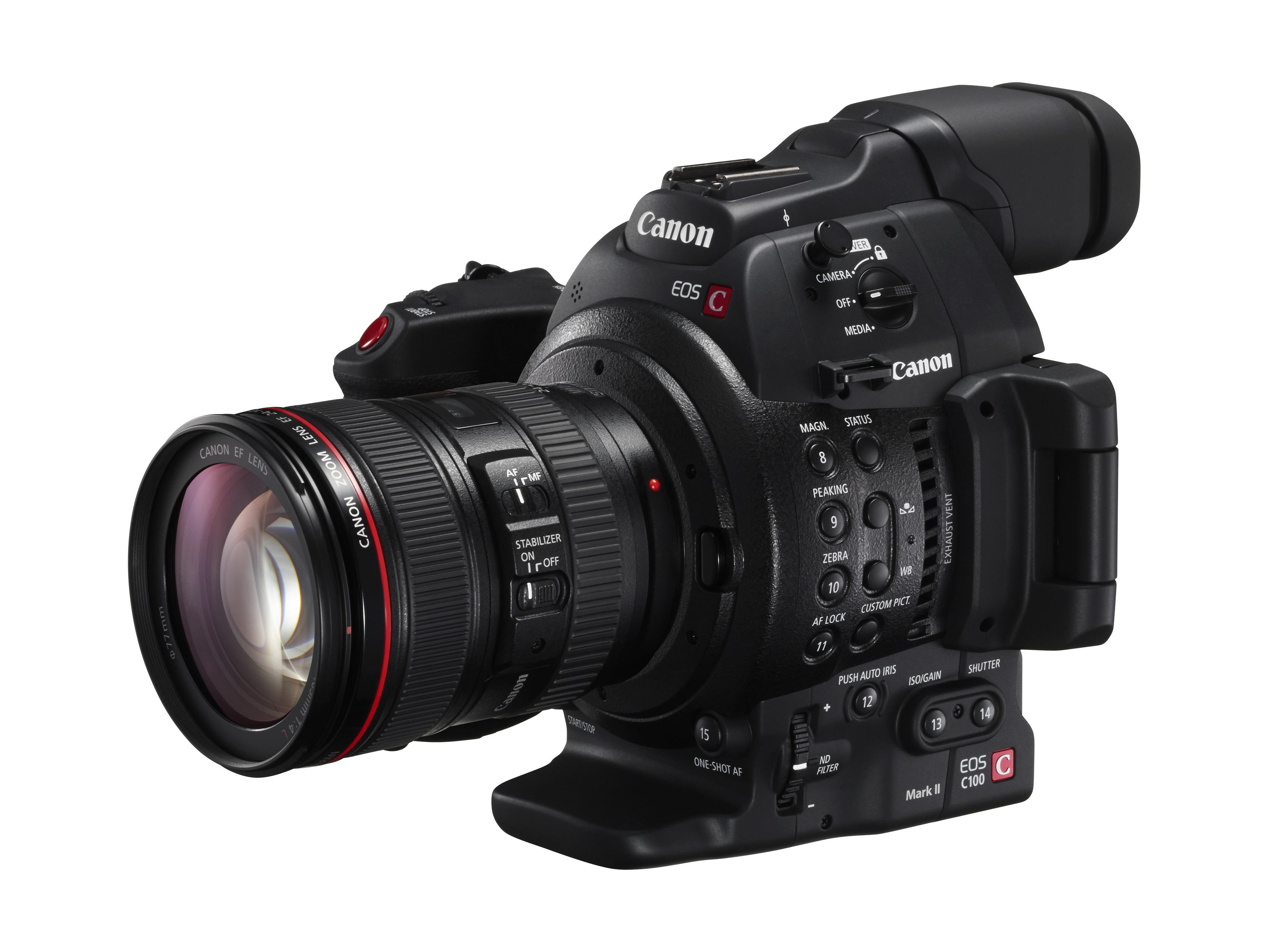 Canon выпускает новую профессиональную видеокамеру EOS C100 Mark II