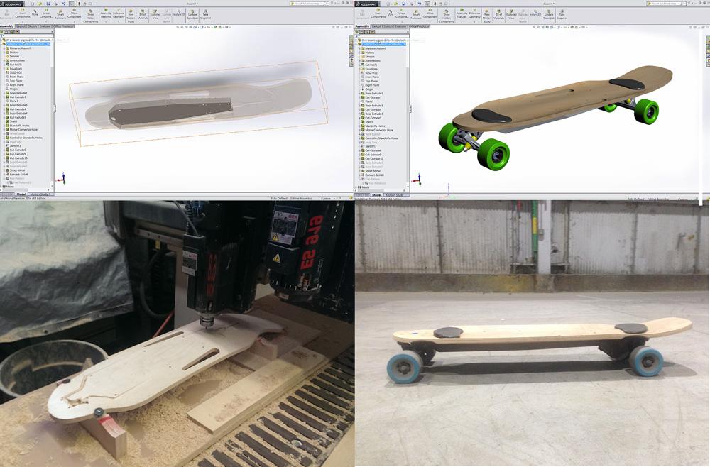 Электрический скейтборд Zboard 2 способен проехать около 39 км без подзарядки