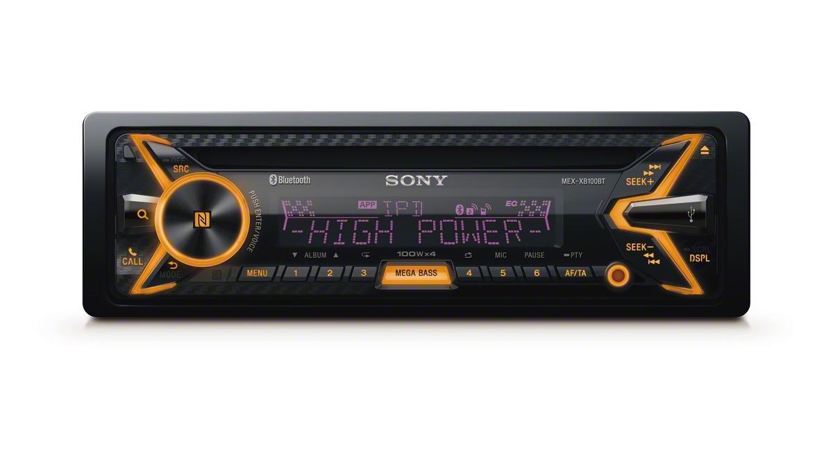 ������������� ������������� Sony MEX-XB100BT ���������� �������� ���������� 4�100 ��