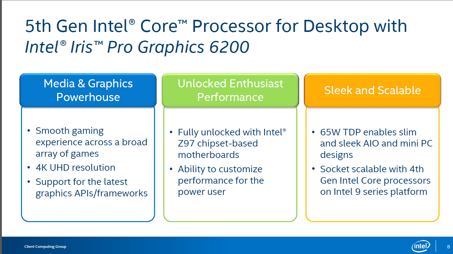 Computex 2015: Intel представила новые процессоры Core i7-5775C и i5-5675C
