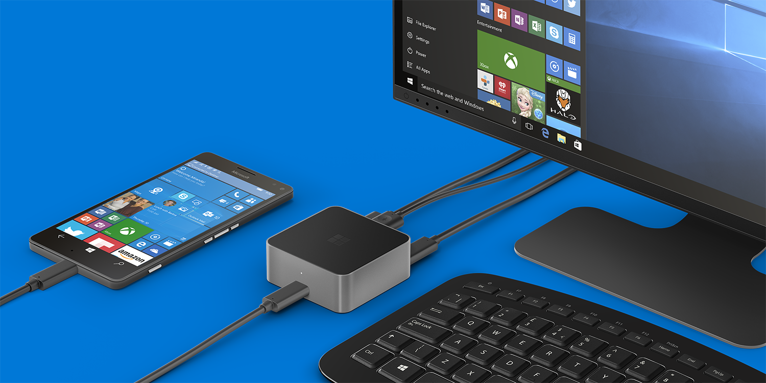 Док-станция Microsoft Display Dock превратит смартфон в мини-ПК